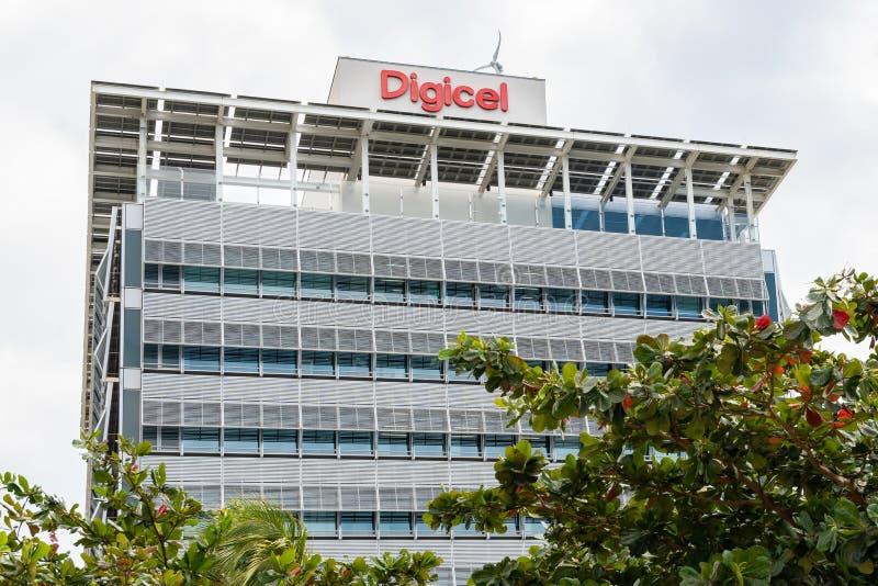 Unternehmenszentrale Digicel Jamaika lizenzfreie stockbilder