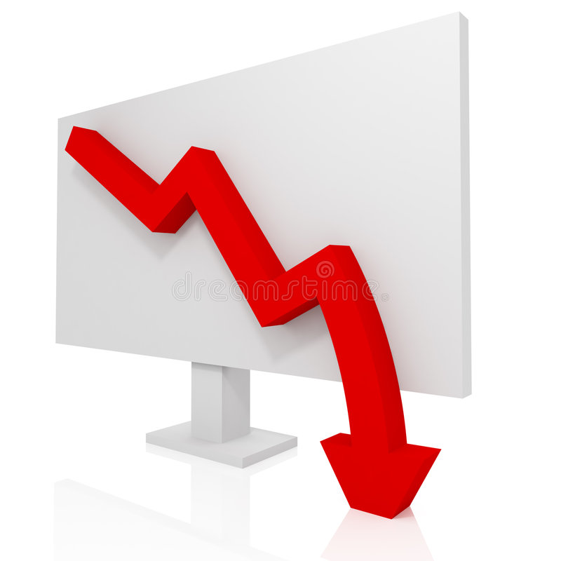 Unternehmenszusammenbruch stock abbildung