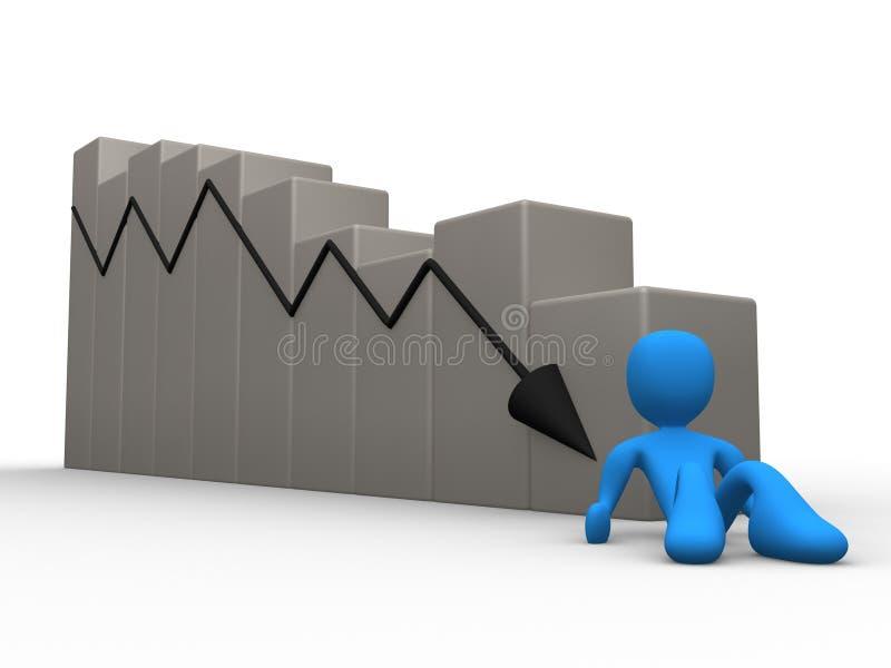 Unternehmenszusammenbruch lizenzfreie abbildung