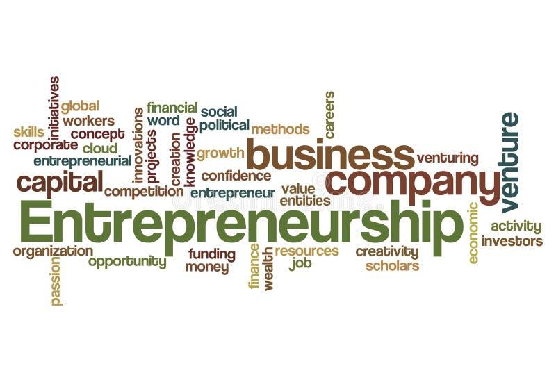 Unternehmergeistwort-Wolkenkonzept lizenzfreie abbildung