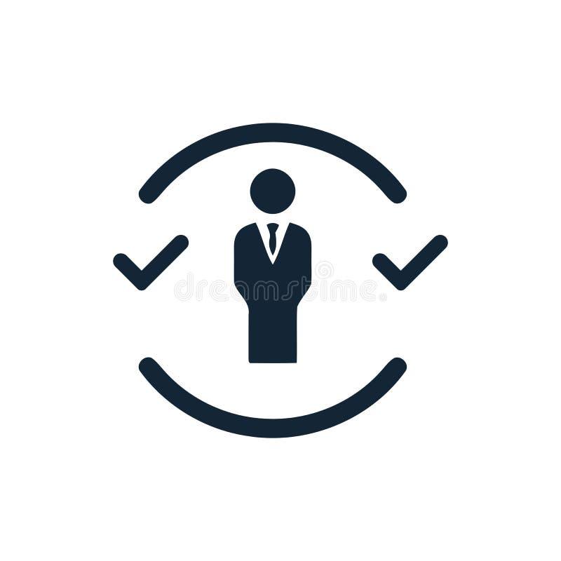 Unternehmerische Entscheidung, Unternehmensplan, Beschlussfassung, Management, Plan, Planung, Strategieikone stock abbildung