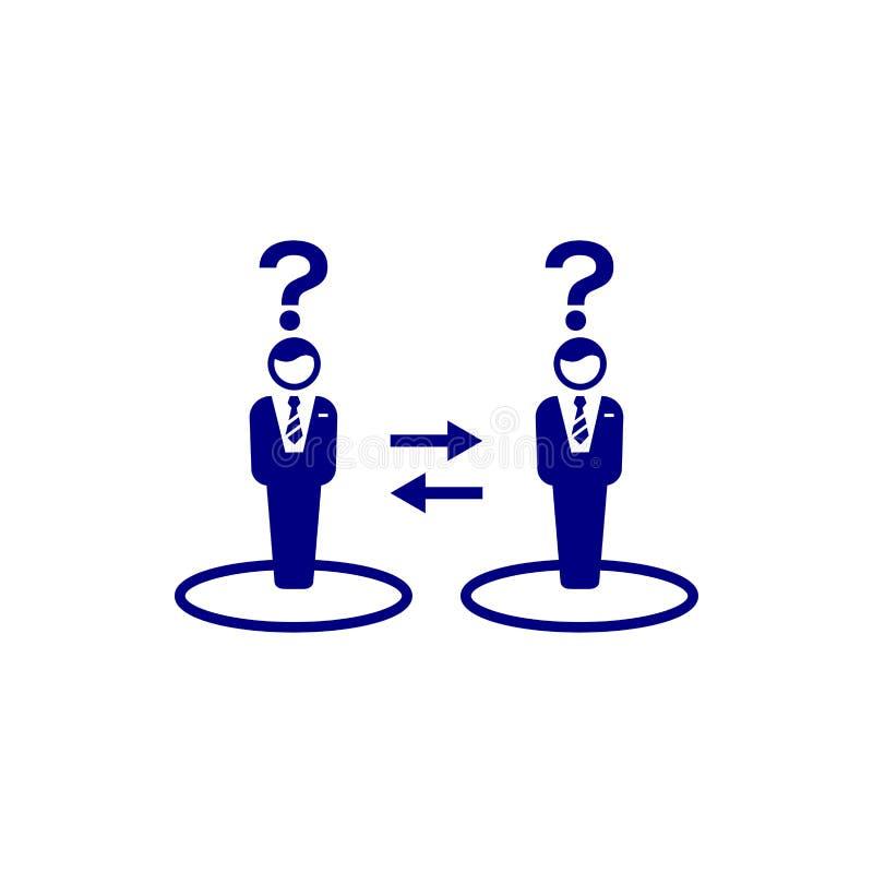 Unternehmerische Entscheidung, Unternehmensplan, Beschlussfassung, Management, Teamentscheidung, Plan, Planung, blaue Ikone der S lizenzfreie abbildung