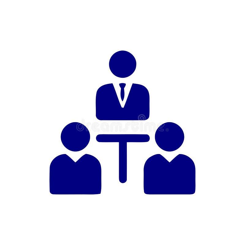 Unternehmerische Entscheidung, Unternehmensplan, Beschlussfassung, Management, Teamentscheidung, Plan, Planung, blaue Ikone der S vektor abbildung