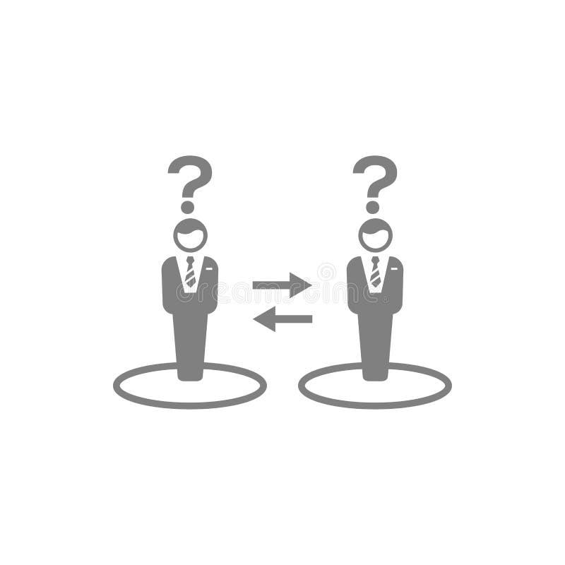 Unternehmerische Entscheidung, Unternehmensplan, Beschlussfassung, Management, Teamentscheidung, Plan, Planung, graue Ikone der S stock abbildung