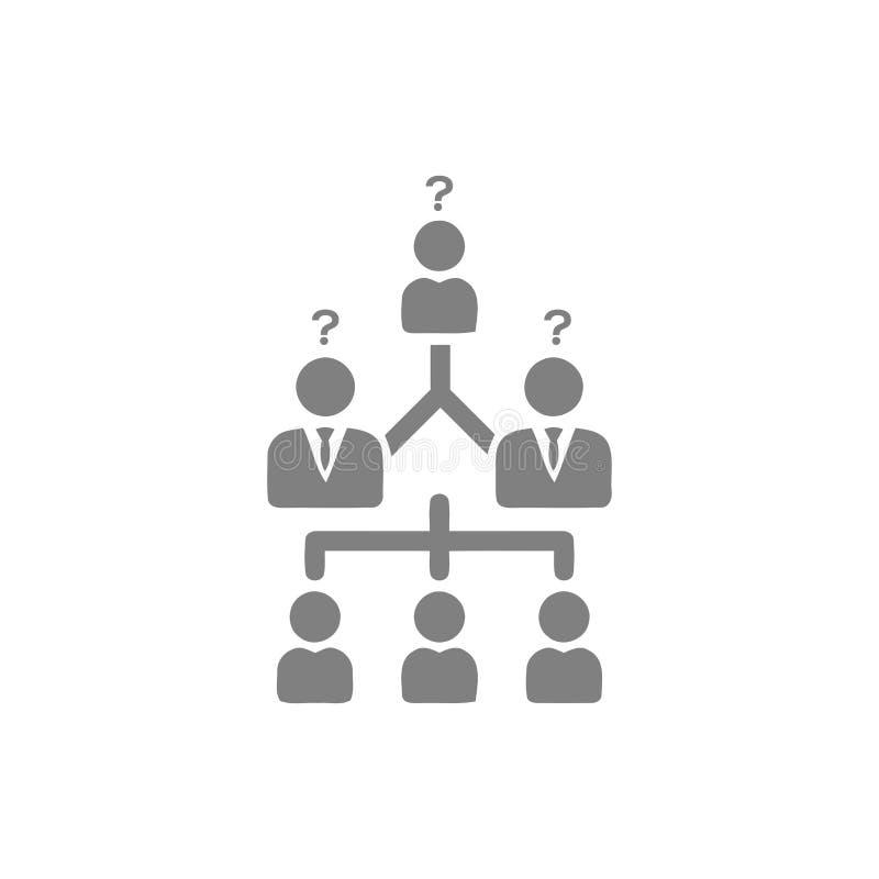 Unternehmerische Entscheidung, Unternehmensplan, Beschlussfassung, Management, Teamentscheidung, Plan, Planung, graue Ikone der S vektor abbildung