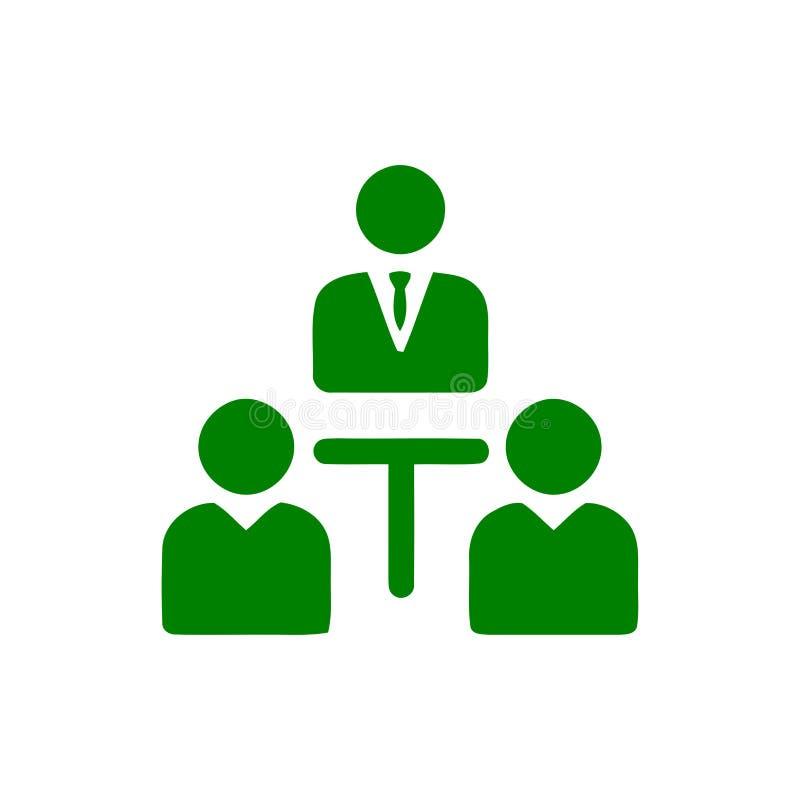 Unternehmerische Entscheidung, Unternehmensplan, Beschlussfassung, Management, Teamentscheidung, Plan, Planung, Ikone der Strateg lizenzfreie abbildung