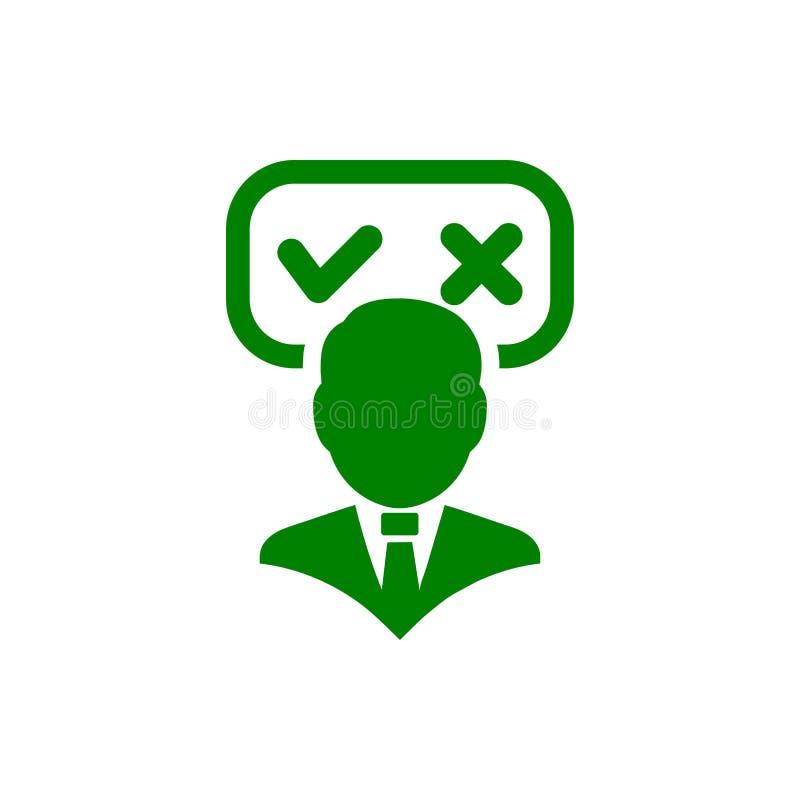 Unternehmerische Entscheidung, Unternehmensplan, Beschlussfassung, Management, Teamentscheidung, Plan, Planung, Ikone der Strateg vektor abbildung