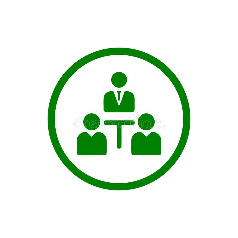 Unternehmerische Entscheidung, Unternehmensplan, Beschlussfassung, Management, Teamentscheidung, Plan, Planung, Ikone der Strateg stock abbildung
