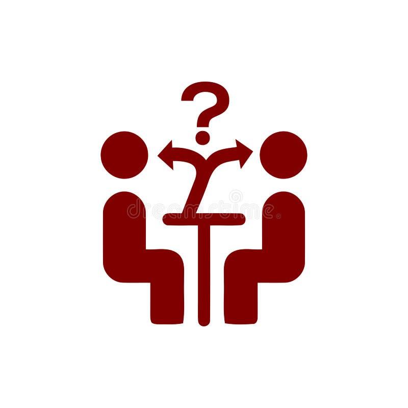 Unternehmerische Entscheidung, Unternehmensplan, Beschlussfassung, Management, Teamentscheidung, Plan, Planung, kastanienbraune I vektor abbildung