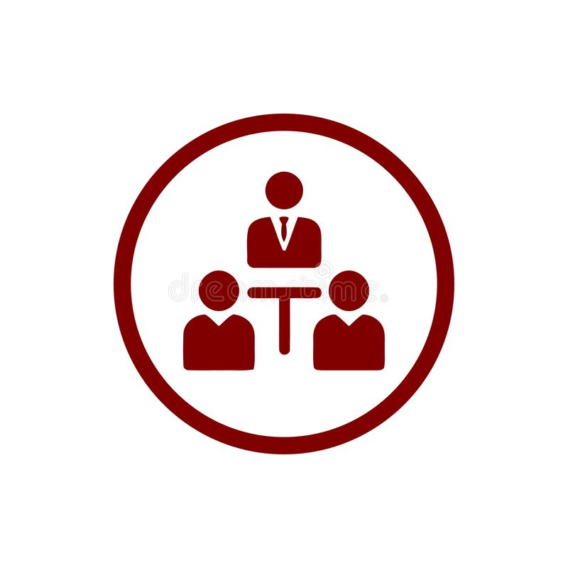 Unternehmerische Entscheidung, Unternehmensplan, Beschlussfassung, Management, Teamentscheidung, Plan, Planung, kastanienbraune I lizenzfreie abbildung