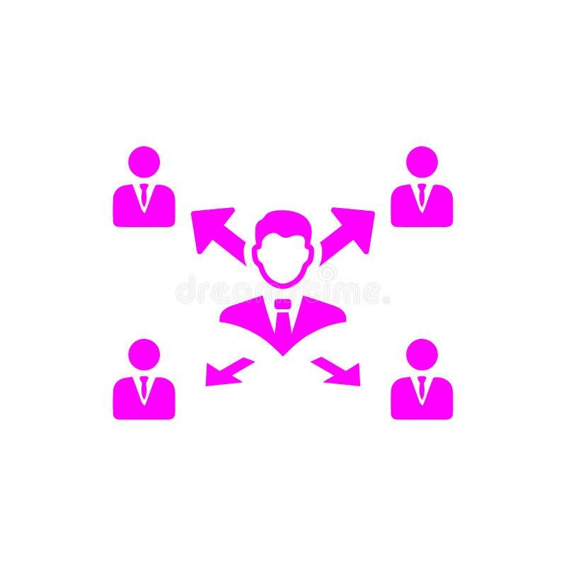 Unternehmerische Entscheidung, Unternehmensplan, Beschlussfassung, Management, Teamentscheidung, Plan, Planung, magentarote Ikone stock abbildung