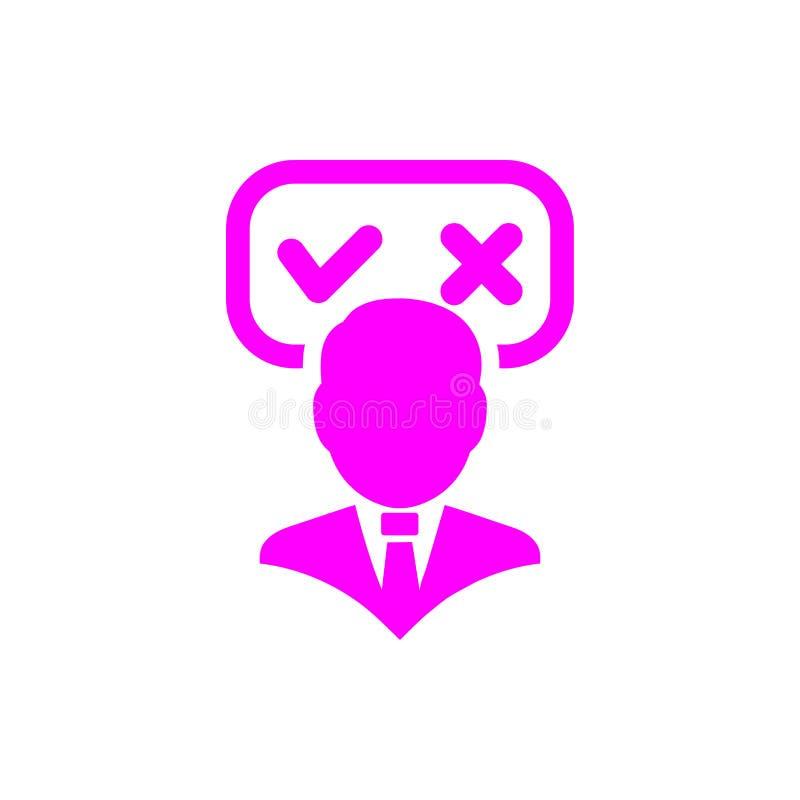 Unternehmerische Entscheidung, Unternehmensplan, Beschlussfassung, Management, Teamentscheidung, Plan, Planung, magentarote Ikone vektor abbildung