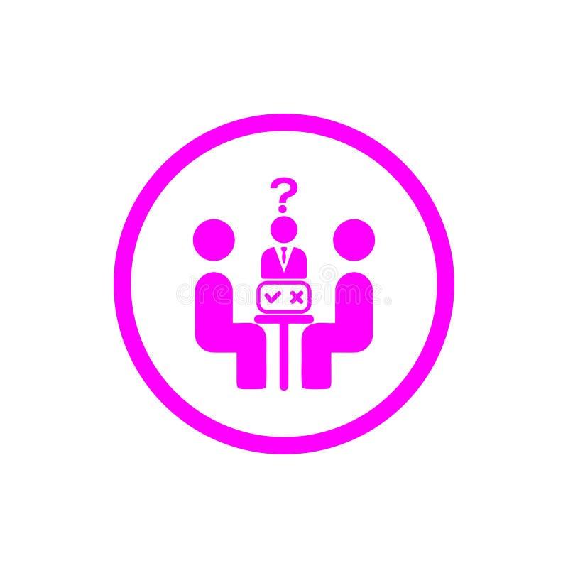 Unternehmerische Entscheidung, Unternehmensplan, Beschlussfassung, Management, Teamentscheidung, Plan, Planung, magentarote Ikone lizenzfreie abbildung