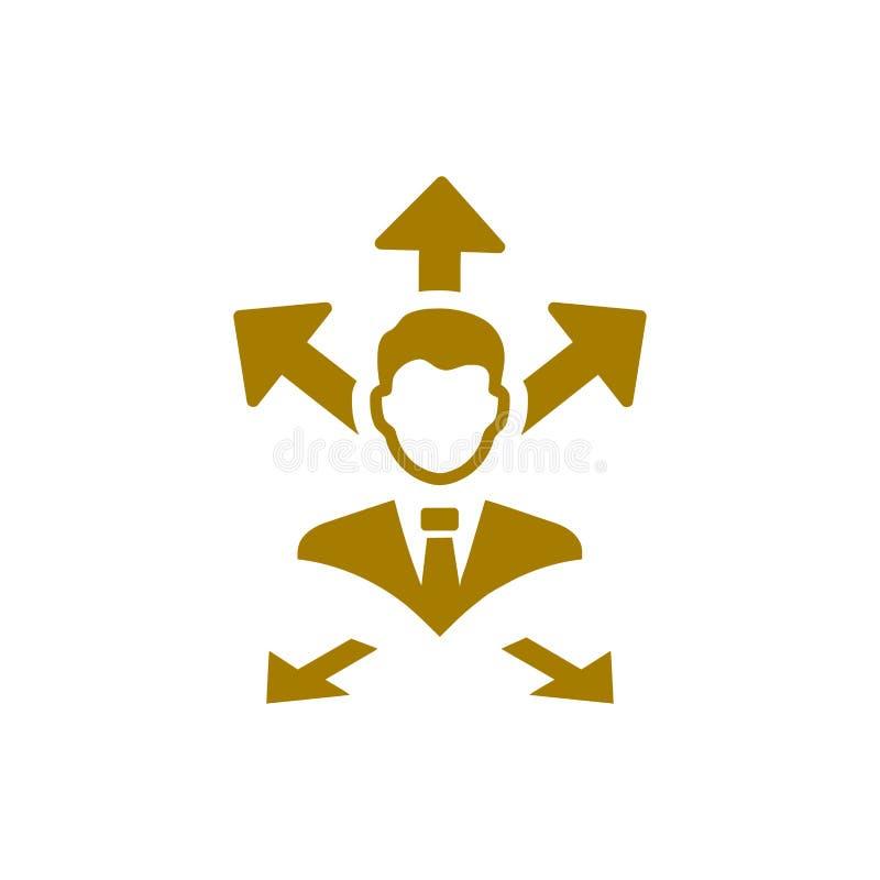 Unternehmerische Entscheidung, Unternehmensplan, Beschlussfassung, Management, Teamentscheidung, Plan, Planung, Strategiegoldfarb lizenzfreie abbildung