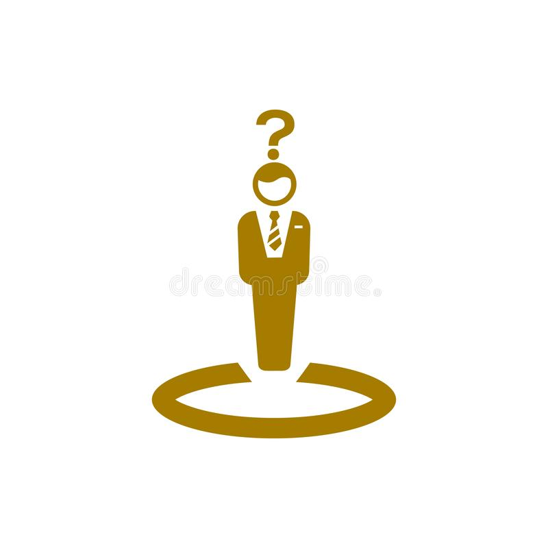 Unternehmerische Entscheidung, Unternehmensplan, Beschlussfassung, Management, Teamentscheidung, Plan, Planung, Strategiegoldfarb stock abbildung