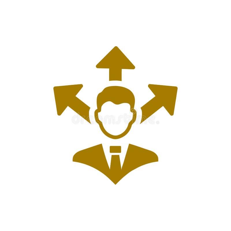 Unternehmerische Entscheidung, Unternehmensplan, Beschlussfassung, Management, Teamentscheidung, Plan, Planung, Strategiegoldfarb vektor abbildung