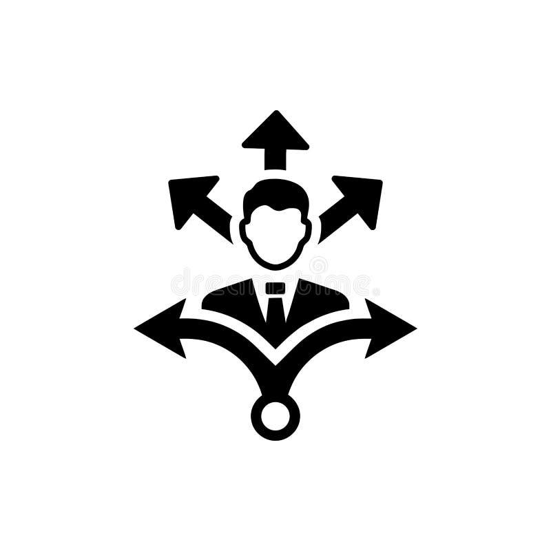 Unternehmerische Entscheidung, Unternehmensplan, Beschlussfassung, Management, Teamentscheidung, Plan, Planung, Strategieikone lizenzfreie abbildung
