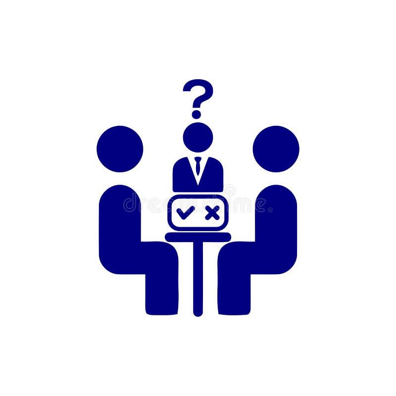 Unternehmerische Entscheidung, Unternehmensplan, Beschlussfassung, Management, Teamentscheidung, Plan, Planung, Strategieikone stock abbildung