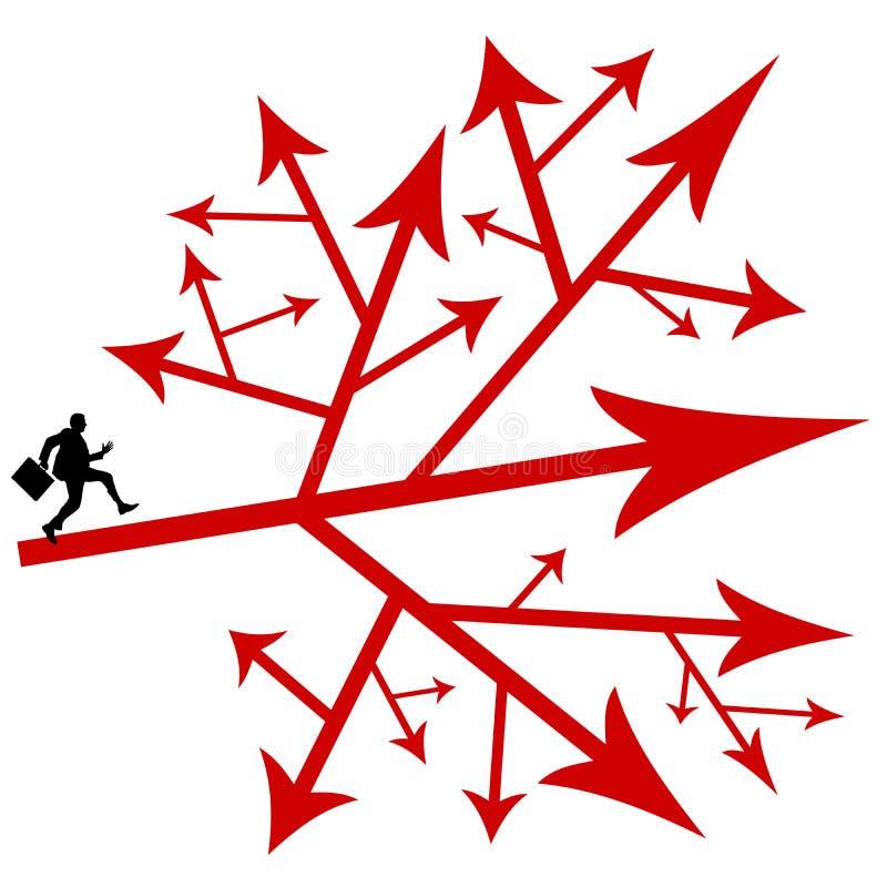 Download Unternehmerische Entscheidungen Stock Abbildung - Illustration von alternativen, durcheinander: 47100257