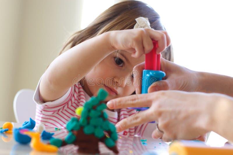 Unterricht, zum des Spielteigs zu benutzen stockfoto
