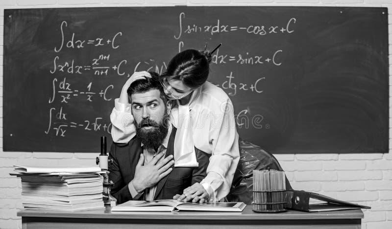 Männlicher Lehrer Student Heißer Heißer Lehrer