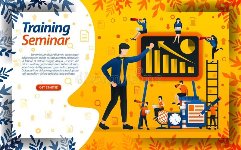 Unterrichten Sie Gesch?ft f?r Anf?nger Seminar f?r Unternehmertraining und zunehmende Ums?tze, Konzeptvektor ilustration kann f?r lizenzfreie abbildung