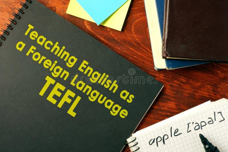 Unterrichtendes Englisch als Fremdsprache TEFL stockbild
