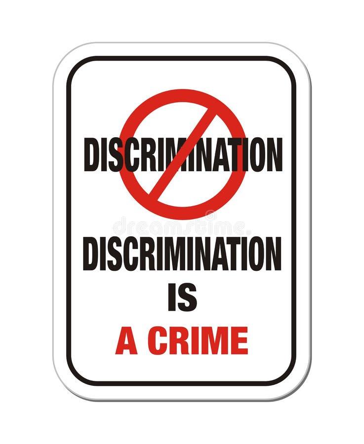 Unterscheidung ist ein Verbrechenzeichen lizenzfreie abbildung