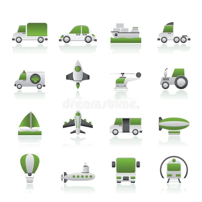 Download Unterschiedliche Art Der Transportikonen Vektor Abbildung - Illustration von raumfahrzeug, taste: 26361106