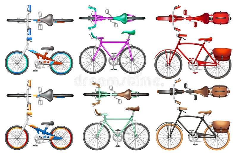 Unterschiedliche Art von Fahrrädern vektor abbildung