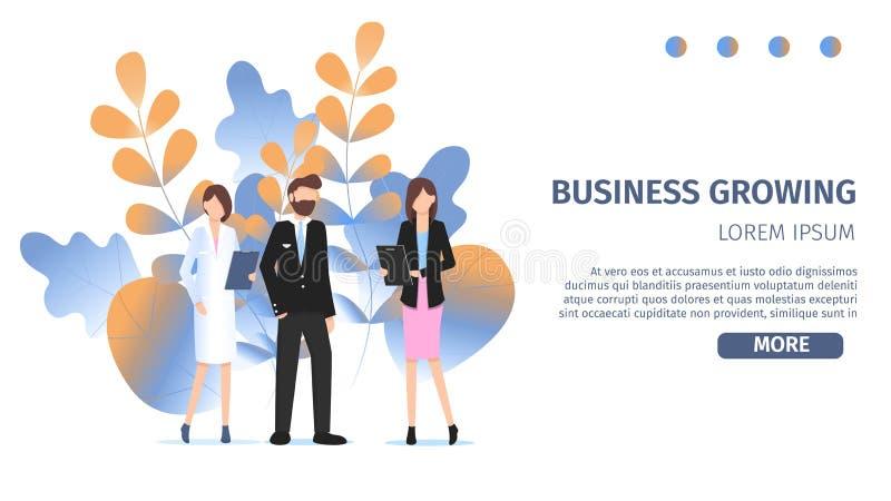 Unterschiedliche Geschäfts-Charakter-Berufswahl-Wahl lizenzfreie abbildung