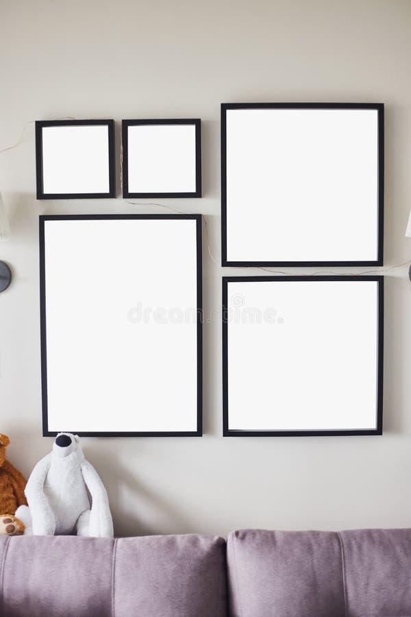 Unterschiedliche Größe gestaltete Fotos vektor abbildung