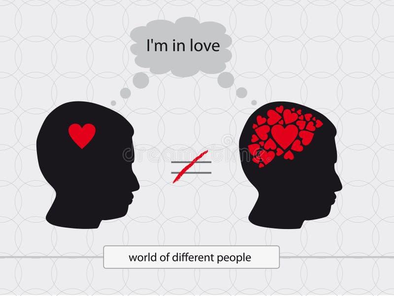 Unterschiedliche Liebe stockfoto
