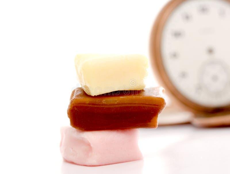 Unterschiedliches Bonbon des Bonbons lokalisiert auf weißem Hintergrund lizenzfreies stockbild