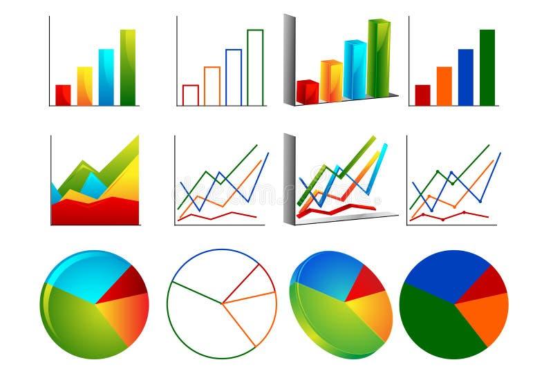 Unterschiedliches Diagramm vektor abbildung