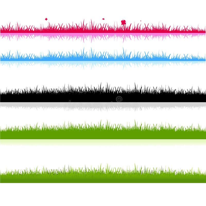 Unterschiedliches Grasfeldschattenbild vektor abbildung