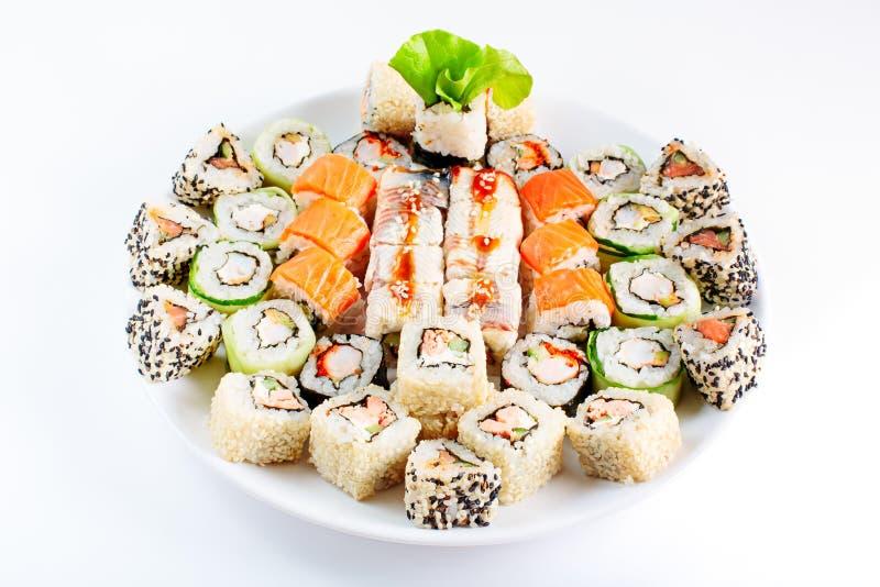 Unterschiedliches japanisches Lebensmittel lizenzfreies stockfoto