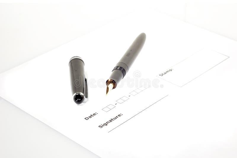 Unterschrift (5) stockfoto