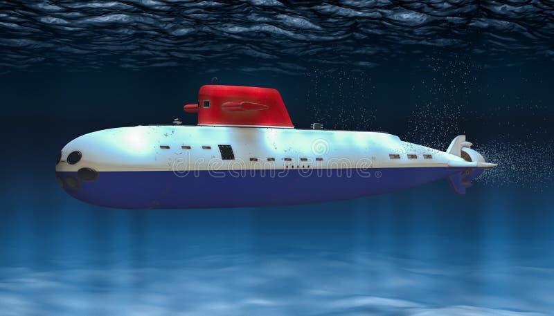 Unterseeboot der niederländischen Marine, Konzept Wiedergabe 3d stock abbildung