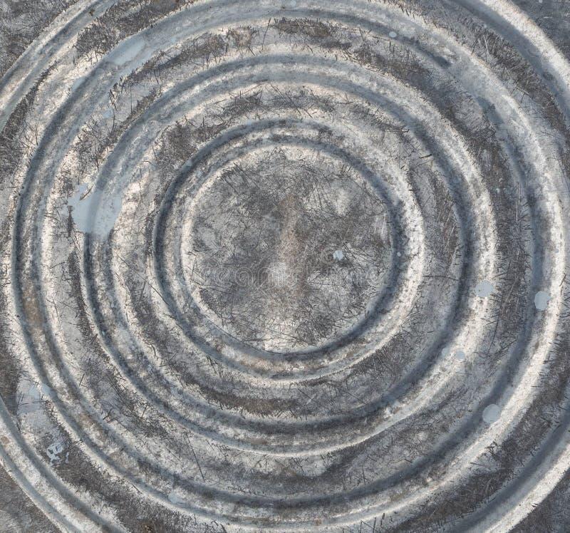 Unterseite des alten Stahleimers lizenzfreies stockbild
