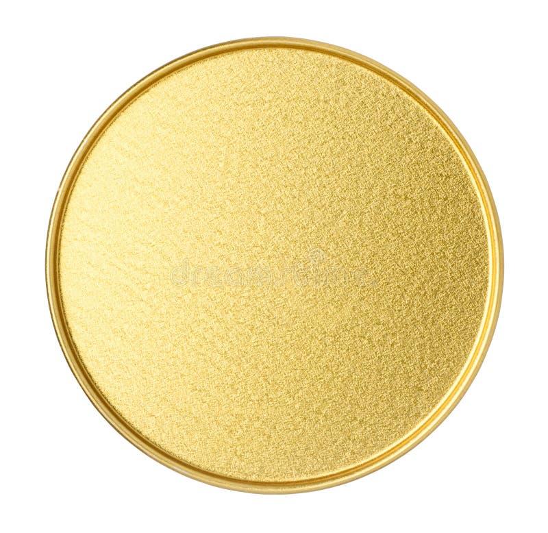 Unterseite des goldenen Metallglases stockfoto