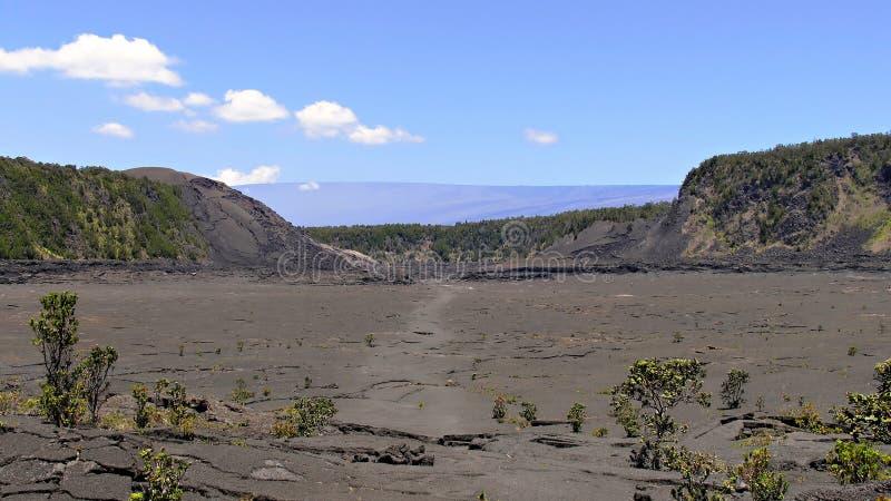 Unterseite des Kilauea Kraters lizenzfreie stockfotografie