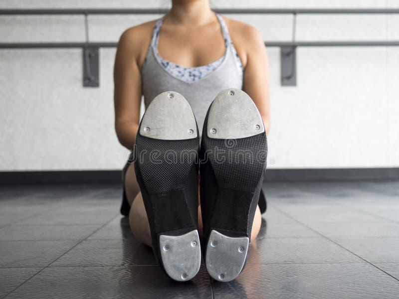 Unterseite von einem Tapper& x27; s klopfen Schuhe lizenzfreies stockfoto