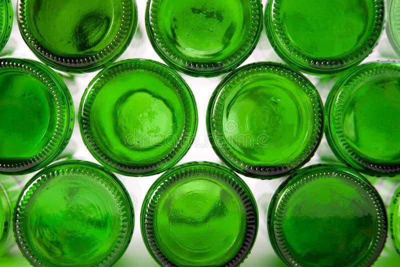 Unterseiten der Flaschen Grüns stockfotos