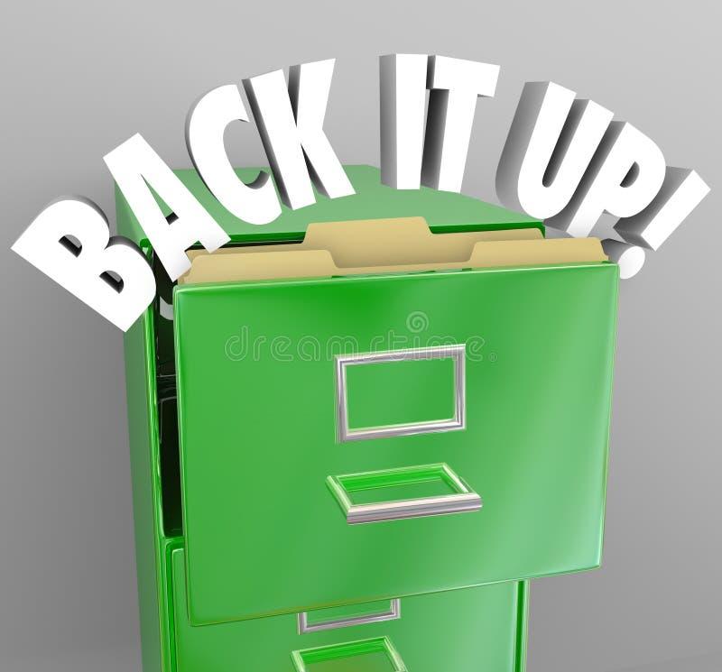 Unterstützen Sie es herauf Aktenschrank-Speicher-wichtige Dokumente stock abbildung
