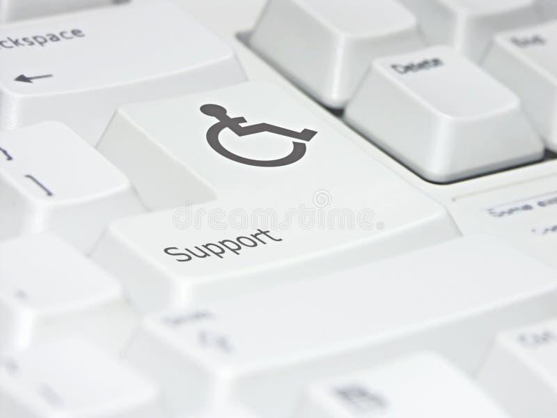 Unterstützende Tastatur Stockfoto