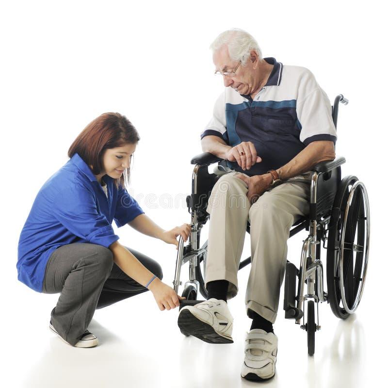 Unterstützung der älteren Personen stockfoto