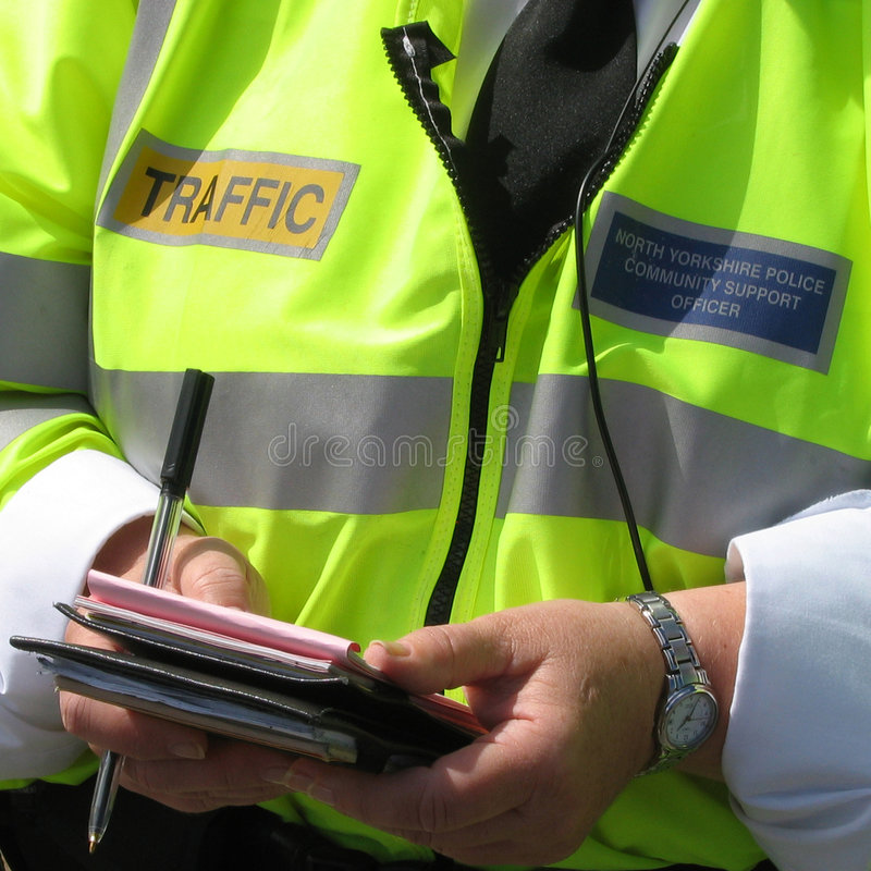 Unterstützung der Gemeinschafts-Polizist stockfoto