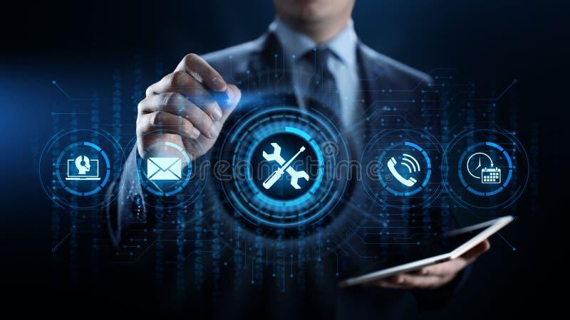 Unterstützung 24 7 Kunden-Servicequalitätsversicherung Geschäfts-Technologiekonzept stockfoto