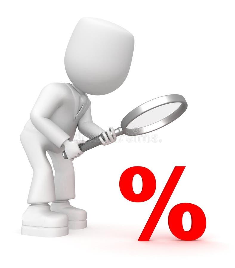 Untersuchen Sie Prozente stock abbildung